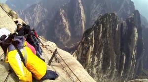 Hua Shan Cliffiside Plank Walk in China