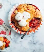 Erdbeer-Cobbler