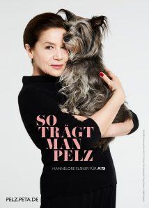 Schauspielerin Hannelore Elsner für PETA